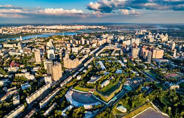 Aerial view of Pechersk, a central neighborhood of Kiev, the capital of Ukraine Fototapete