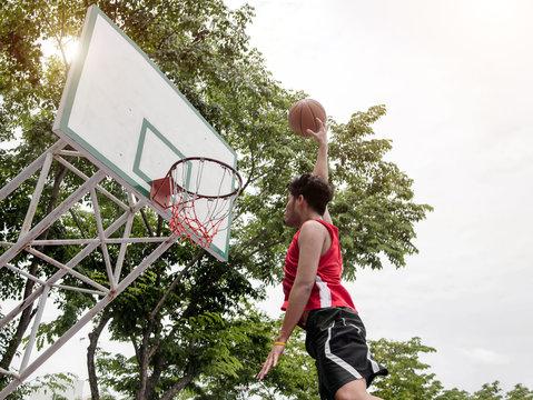 backyard of basketball player playing ball