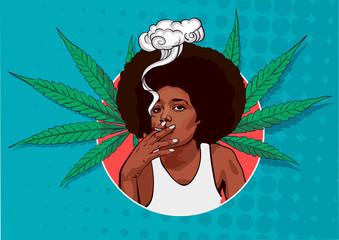 Girl Smoking Weed Photos Royalty Free Images Graphics Vectors Videos Adobe Stock