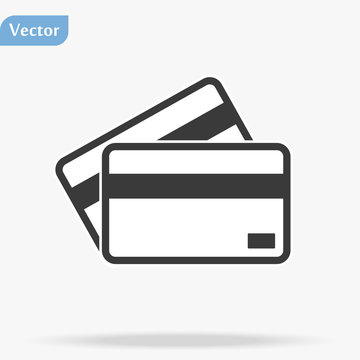 Credit Card, Credit Card icon vector, in trendy flat style isolated on white background. Credit Card icon image, Credit Card icon illustration