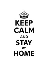 Keep Calm and Stay at Home quotation.