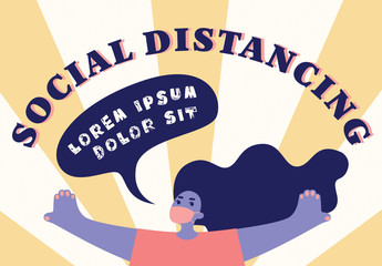 Social Distancing Poster Layout