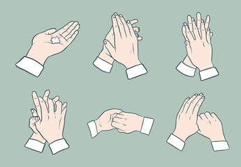 Hand Washing Guide Icon Set
