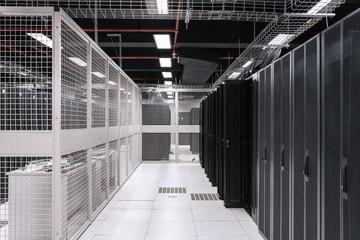 Empty server room