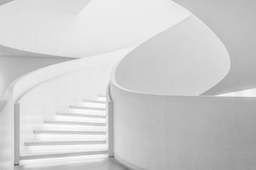 Empty space in white architecture