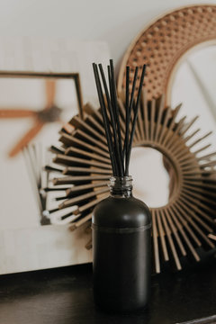 An oil diffuser in a living room