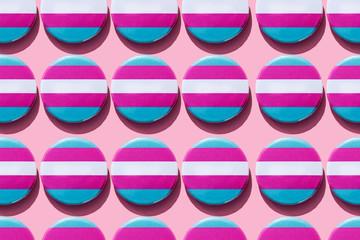 transgender pride flag badges