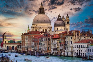 Poster Venice venice grand canal and church amazing background