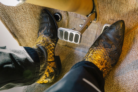 Cowboy Boots with Brake and Accelerator