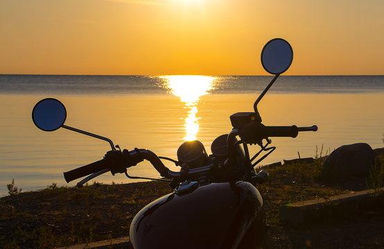 Motorcycle Sunset