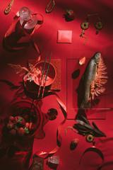 Stores à enrouleur Commemoratif Still life study/feast set up