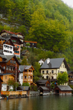 Cozy city in the mountains
