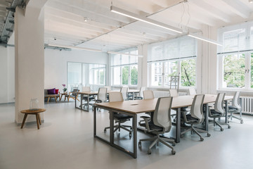Bright Open-Plan Office Without People Fotobehang