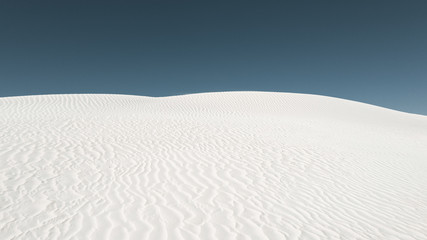 white dunes and blue sky