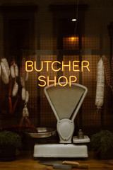 butcher shop neon