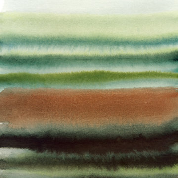 Earth Toned Abstract Watercolor Painting