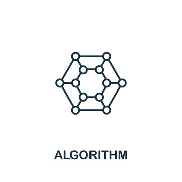 Algorithm icon from machine learning collection. Simple line Algorithm icon for templates, web design and infographics