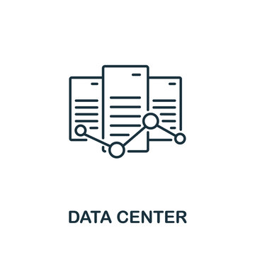 Data Center icon from machine learning collection. Simple line Data Center icon for templates, web design and infographics