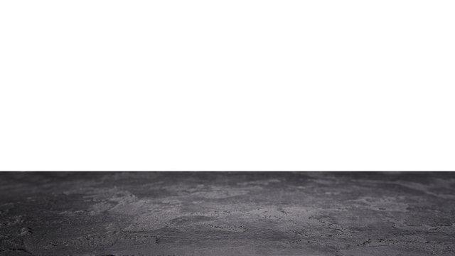 Stone surface on blank white background.