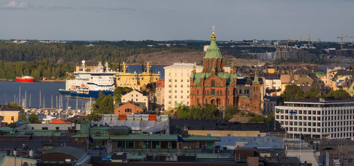 Wall Mural - top View of the city and the assumption Cathedral,