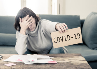 Depressed woman not able to pay rent, expenses and debts after lost her job amid COVID-19 Pandemic.