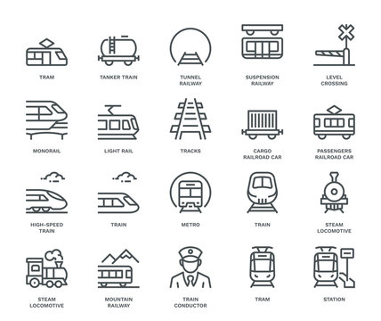 Rail Transport Icons