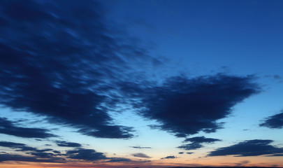 Fototapete - Dramatic sky with clouds
