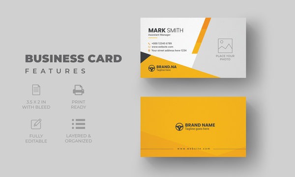 Modern Creative Business Card Template   Car Wash Business Card with Rent A Car