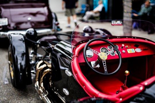 Black early classic car
