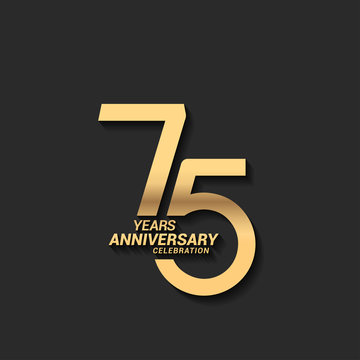 75 years anniversary celebration logotype with elegant modern number gold color for celebration