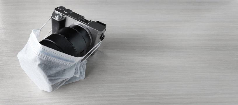 medical mask camera during pandemic