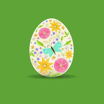 easter egg floral decoration