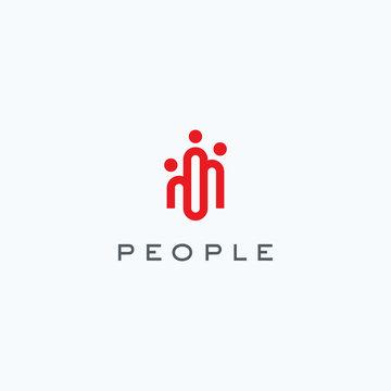 People logo icon design vector