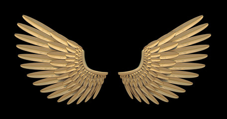 Gold angel wing.