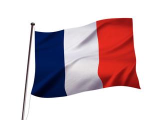 フランスの国旗イメージ、3dイラストレーション