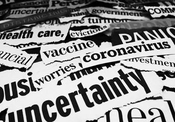 Corona virus and economy newspaper headlines