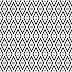 Seamless pattern with black rhombuses