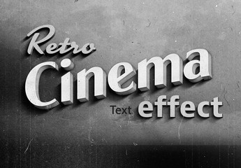 Old Vintage Hollywood Film Title Text Effect