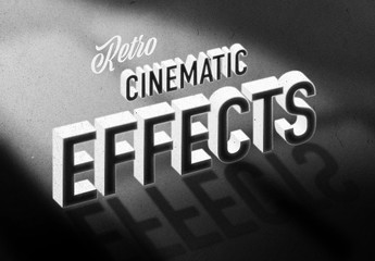 Old Vintage Hollywood Movie Title Text Effect