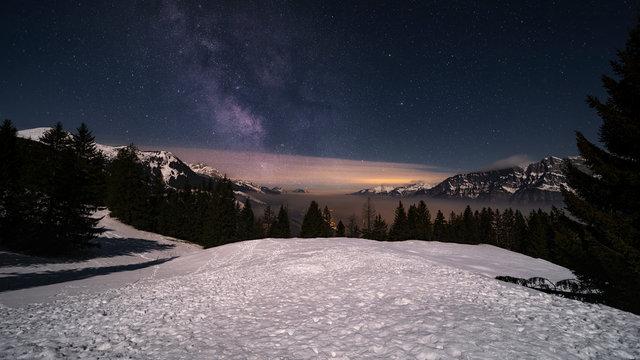 Milkiway Swiss Alps