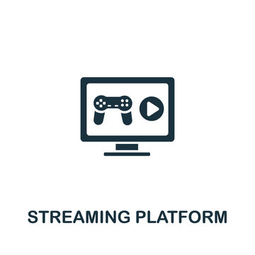 Steaming Platform icon from streaming collection. Simple line Steaming Platform icon for templates, web design and infographics