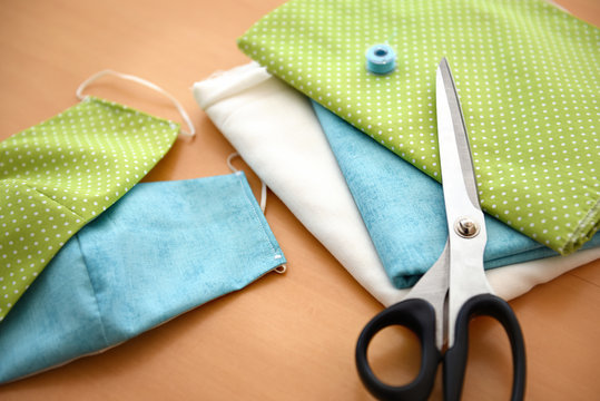 Fabric for sewing protective face masks