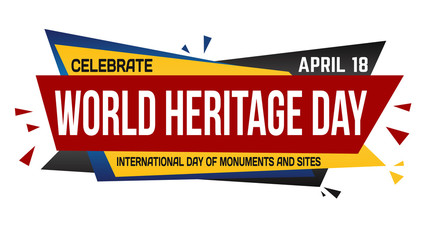 World heritage day banner design Fotomurales
