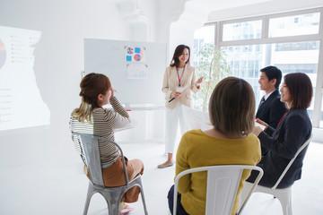 プロジェクトチームのミーティング