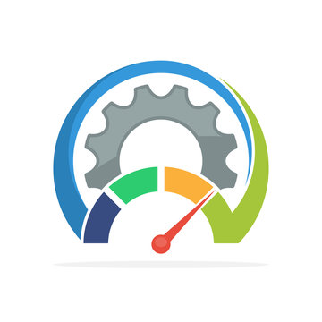 Illustrated icons with the concept of improving the work mechanism process.