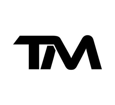 Initial 2 letter Logo Modern Simple Black TM