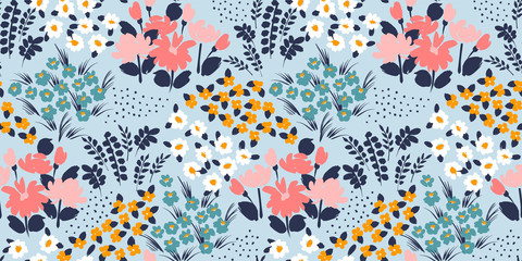 Floral abstract seamless pattern. Vector design for different surfases. Fototapete