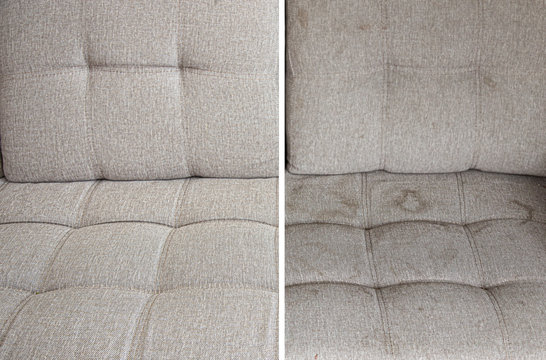 clean and dirty sofa before and after, Cleaning service clean sofa with professional equipment