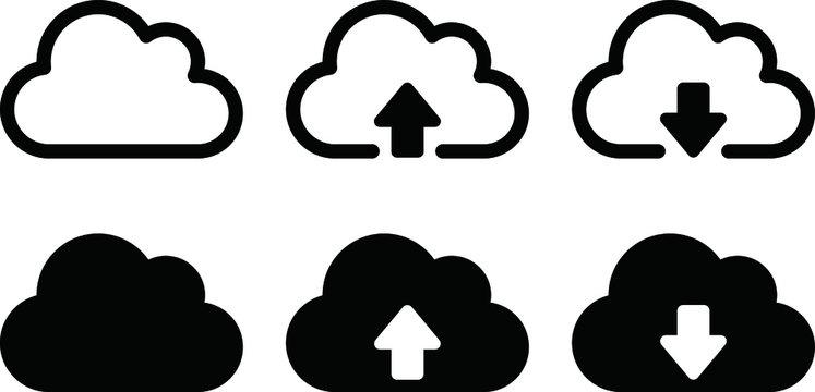 クラウドのアイコンのセット/イラスト/データベース/サーバー