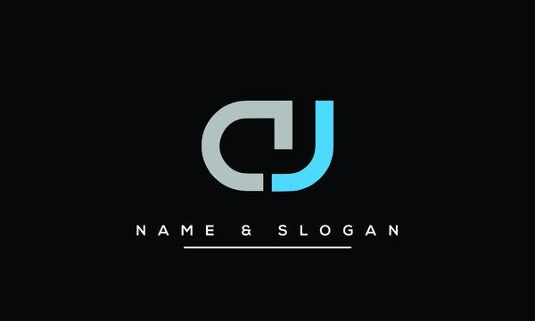 AJ ,JA ,A ,J  Letter Logo Design with Creative Modern Trendy Typography